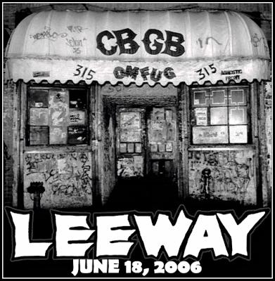 LEEWAY - CBGB's front